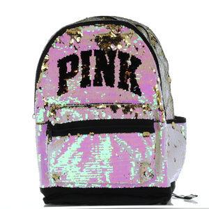 Pink Victoria's Secret Flip Bling Campus Backpack